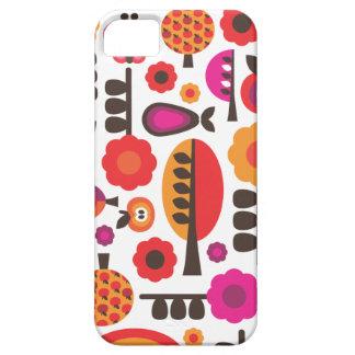 Rétro coque iphone de motif de papillon de fleur coque iPhone 5