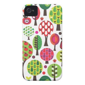 Rétro coque iphone de motif de papillon de pomme d coques iPhone 4