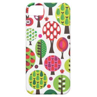 Rétro coque iphone de motif de papillon de pomme d étui iPhone 5