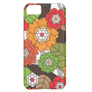 Rétro coque iphone floral de motif d'amusement coque pour iPhone 5C