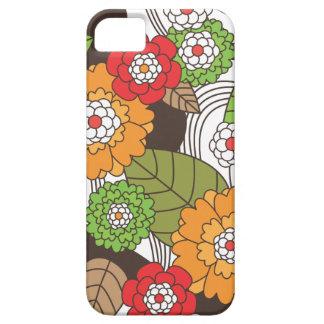 Rétro coque iphone floral de motif d'amusement coque barely there iPhone 5