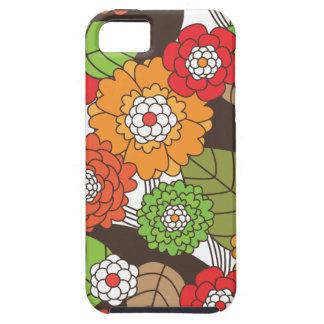 Rétro coque iphone floral de motif d'amusement coque iPhone 5 Case-Mate