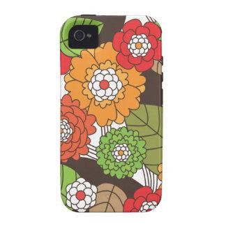 Rétro coque iphone floral de motif d'amusement coque vibe iPhone 4
