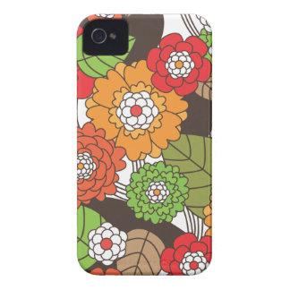 Rétro coque iphone floral de motif d'amusement coques Case-Mate iPhone 4