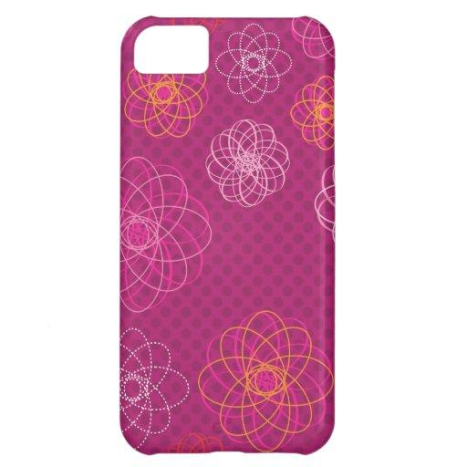 Rétro coque iphone mignon de motif de fleur coques iPhone 5C