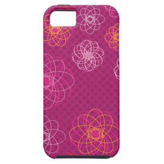 Rétro coque iphone mignon de motif de fleur étuis iPhone 5
