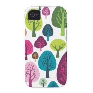 Rétro coque iphone organique de motif de plante d' coques iPhone 4/4S