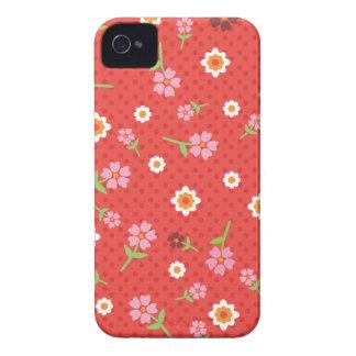 Rétro coque iphone rouge de conception de point de coque iPhone 4 Case-Mate