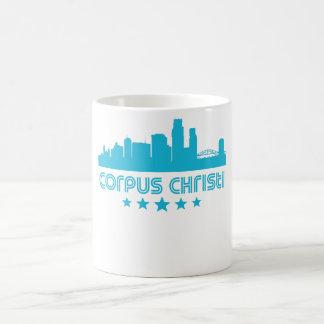 Retro Corpus Christi Skyline Coffee Mug