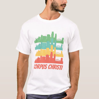 Retro Corpus Christi TX Skyline Pop Art T-Shirt