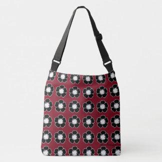 Retro-Cottage-Flowers-Red-Black-Shoulder-Bags-Tote Crossbody Bag