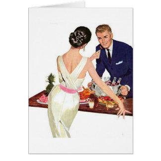 Retro Couple - Cocktail Party Flirtation, Card