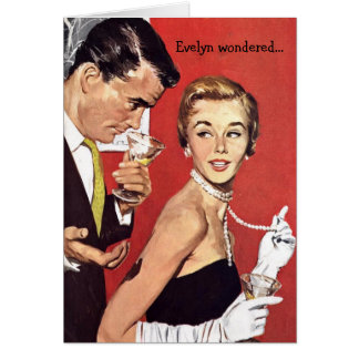 Retro Couple - Do You Think He'll Find Out?, Card