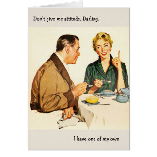 Retro Couple - Don't Give Me Attitude, Card