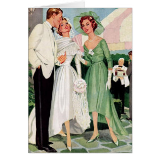 Retro Couple - It's All Over Once You Get Married, Card