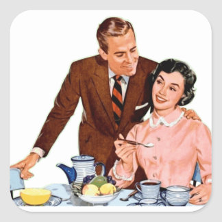 Retro Couple Kitchen Vintage Graphics Stickers