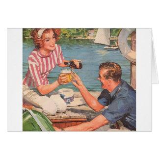 Retro Couple - Rock the Boat, Card