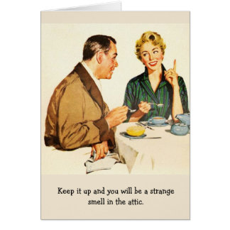 Retro Couple - Strange Smell in the Attic, Card