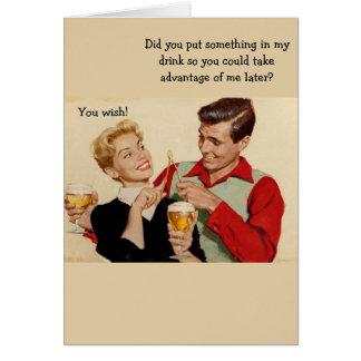Retro Couple - Wishful Thinking, Card