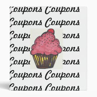 Retro Coupon Binder Cupcake