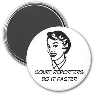 Retro Court Reporting Magnet Fridge Magnet