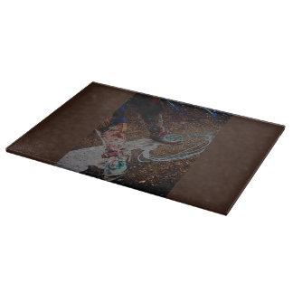 Retro Cowgirl Western Cutting Board