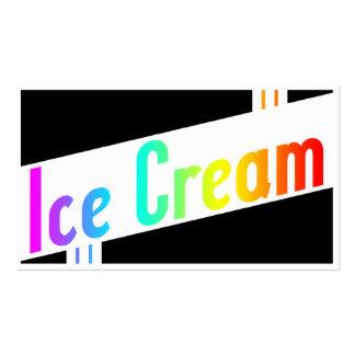 rétro crème glacée carte de visite standard