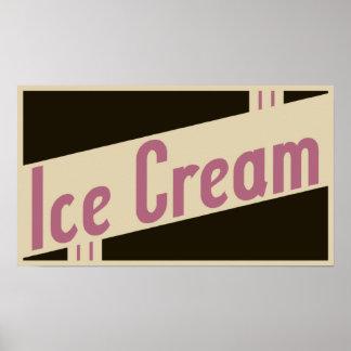 rétro crème glacée poster