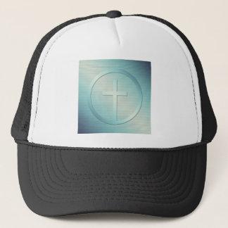 Retro Cross Emblem Graphic Trucker Hat