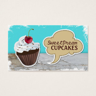 Retro Cupcake Bakery Business Cards
