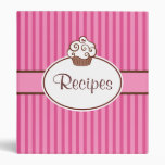 Retro Cupcake Recipe Binder