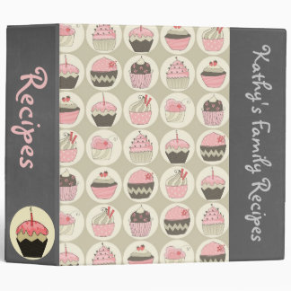 Retro Cupcakes Custom Recipe/Photo Binder