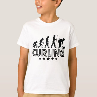 Retro Curling Evolution T-Shirt