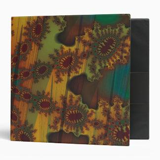 Retro Curtains Fractal Vinyl Binders