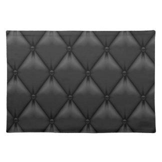 Retro Custom Black Leather Placemat