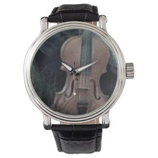 Retro Custom violin_grey Wristwatch