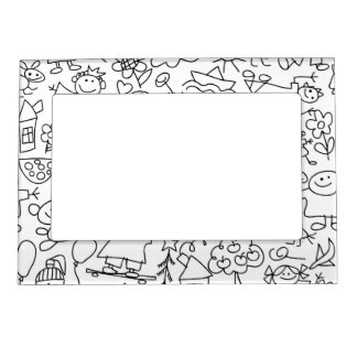 Retro Cute Kids Children Pattern Magnetic Picture Frame