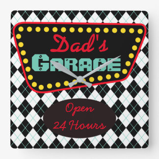 Retro Dad's Garage Wall Clock Father's Day Gift
