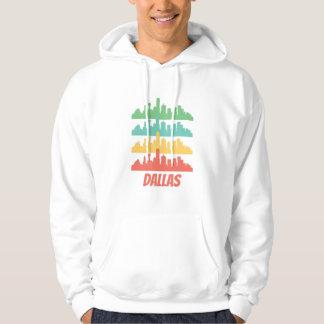 Retro Dallas TX Skyline Pop Art Hoodie