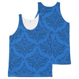 Retro Damask Brocade Blue
