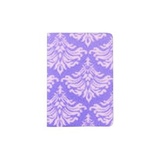 Retro Damask Brocade Lavender Purple Passport Holder
