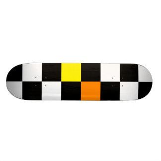 Rétro damier coloré 2 skateboard customisable