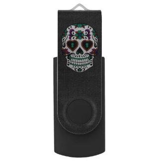 Retro Day of the Dead Sugar Skull USB Flash Drive