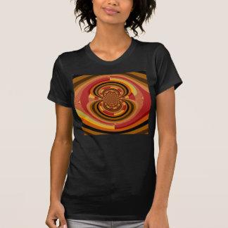 Rétro décoration florale colorée de Nouveau d'art T-shirt