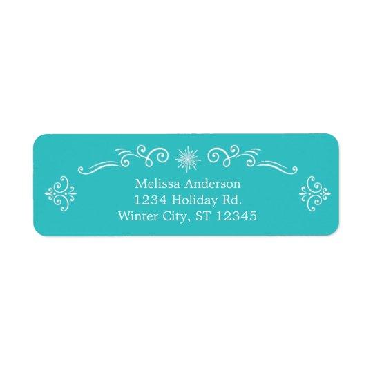 Retro Decorative Address Label