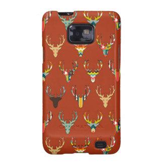 retro deer head russet galaxy s2 cover