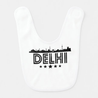 Retro Delhi Skyline Bib
