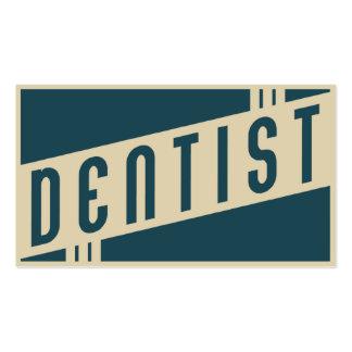rétro dentiste carte de visite standard