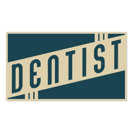 rétro dentiste cartes de visite personnelles