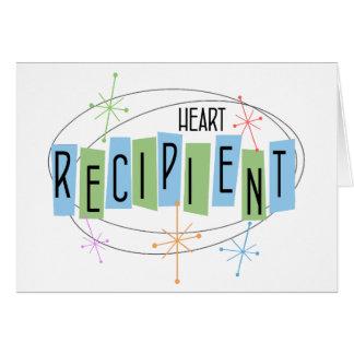 Retro design Heart Transplant Recipient Card